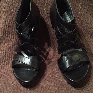 Stuart Weitzman black high heel shoes